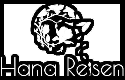 Hana Reisen Logo transparent weiss mit Schatten