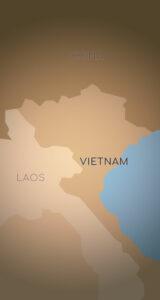 Nordvietnam und Nordlaos Karte