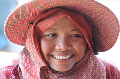 Kampot Einheimische Kambodscha