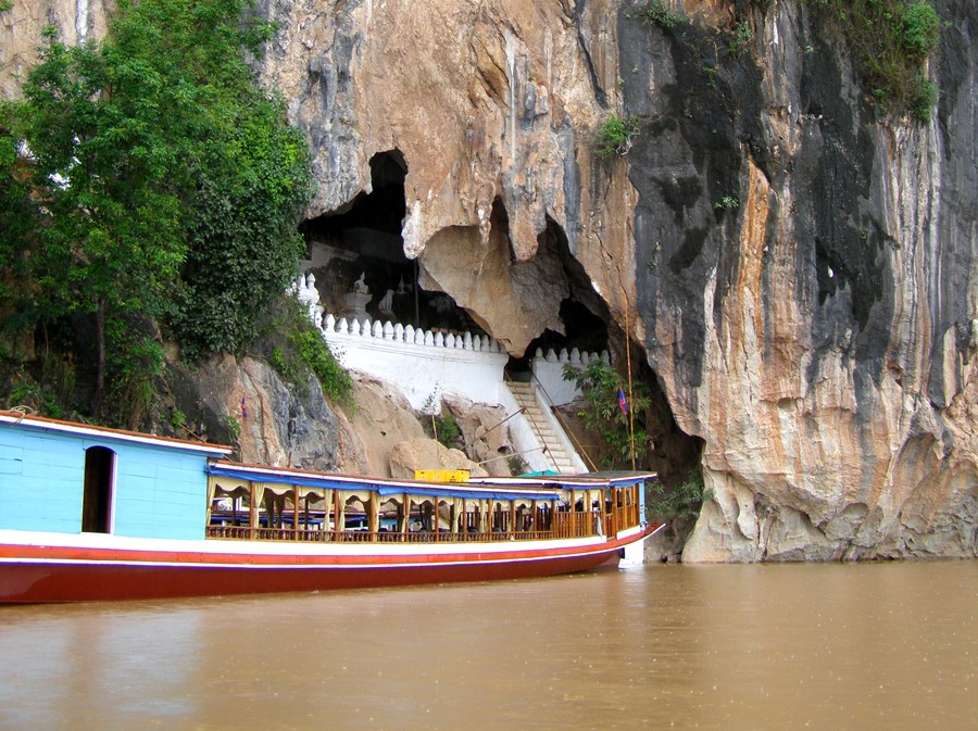 Laos_Pak Ou Höhlen_Anreise mit dem Boot