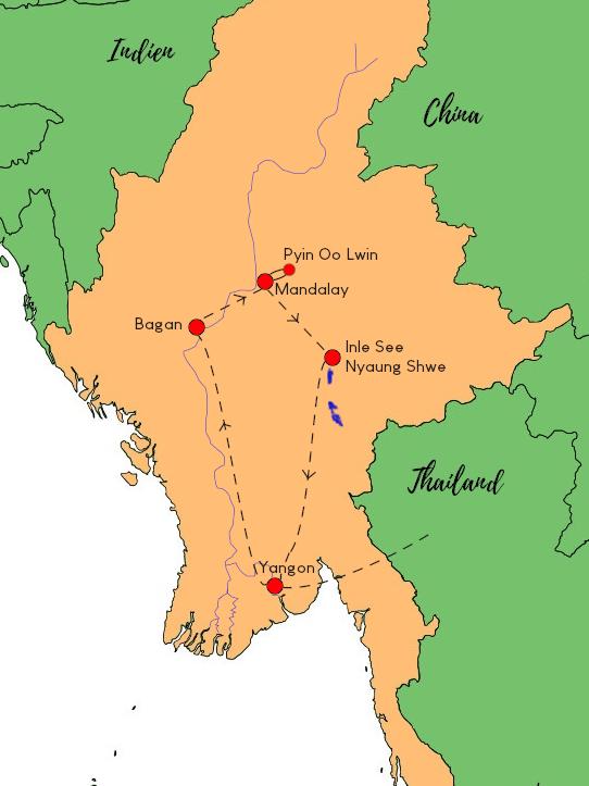 Myanmar Rundreise Klassisch für die ganze Familie