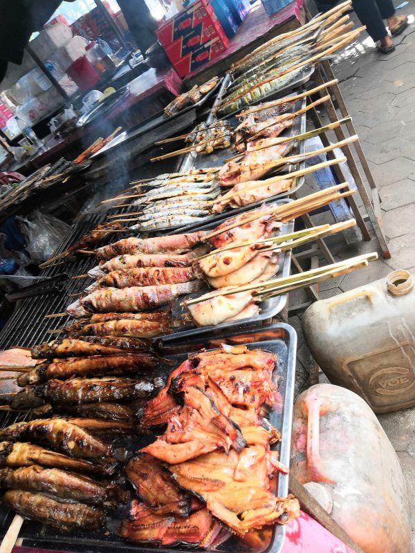 Kep Fischmarkt Kambodscha