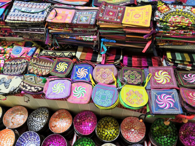 Markt Auslegware in Phnom Penh Kambodscha