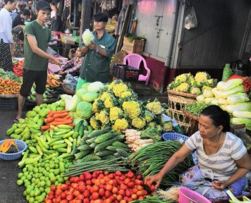 Yangon Alltag Myanmar Markt