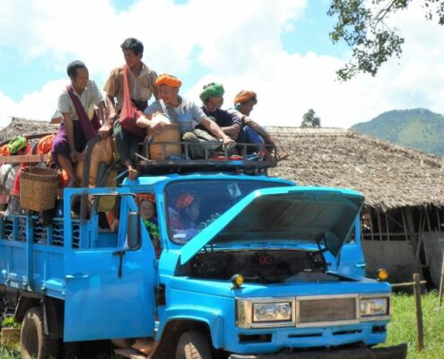 Truck am Inle See Myanmar, Alltag am Inle See