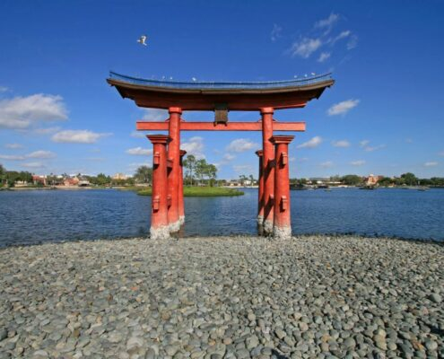 Der Hiroschima Schrein auf Miyajima in Japan