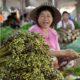 Eine lachende Marktfrau in Laos