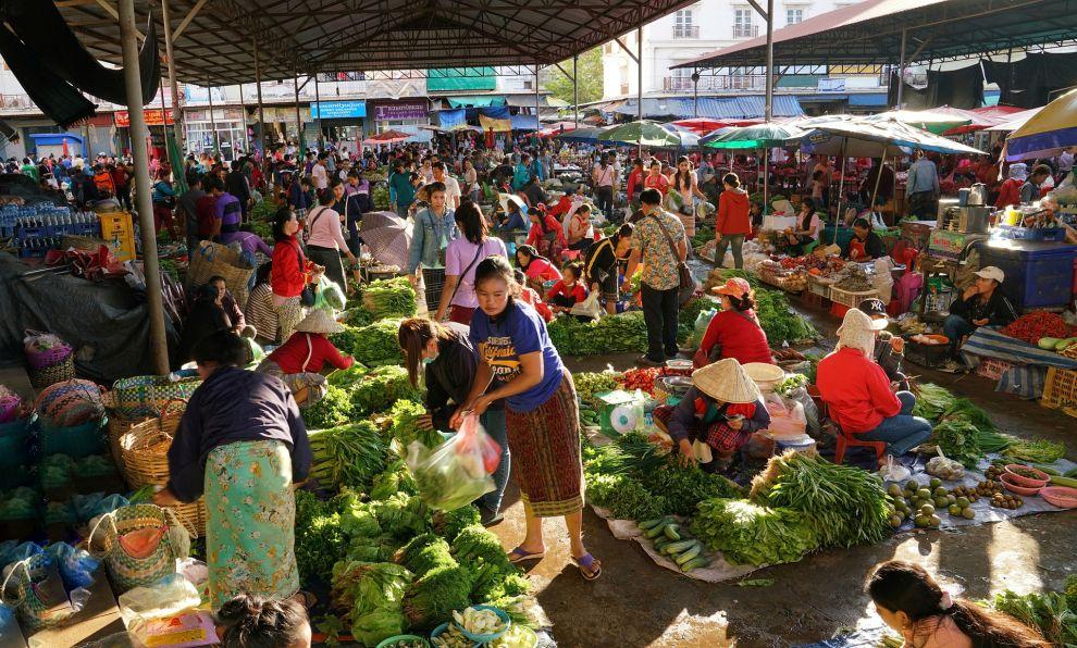 örtlicher Markt in Pakse, Südlaos