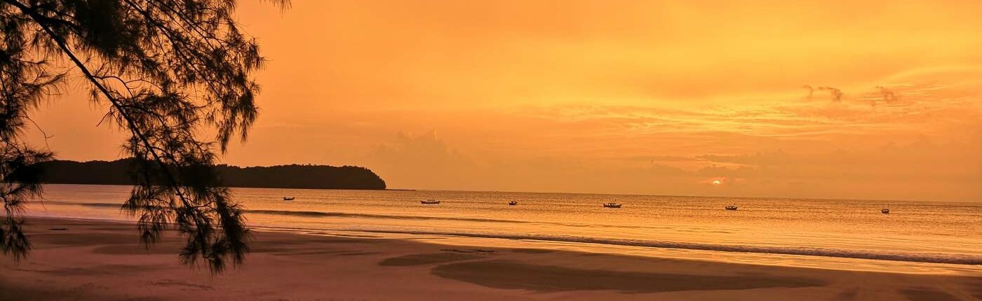 Myanmar Ngapali Beach Sonnenuntergang
