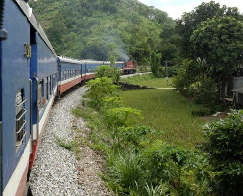 Zugfahrt Sapa nach Hanoi, Vietnam