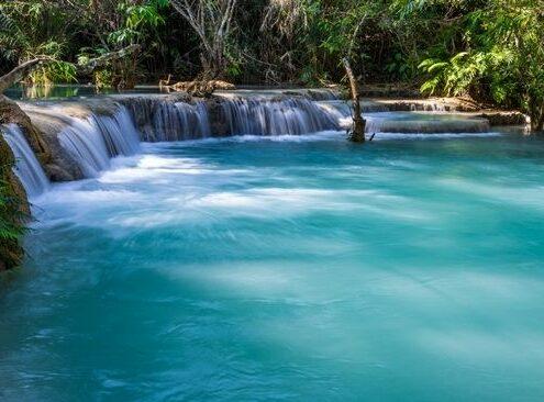 Laos Kuang Si Wasserfälle