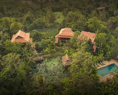 Battambang_Maisons Wat Kor_Vogelperspektive