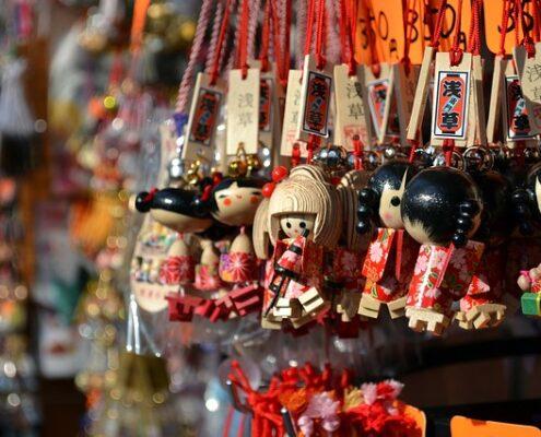 Asakusa Tokio Japan Geisha Figuren