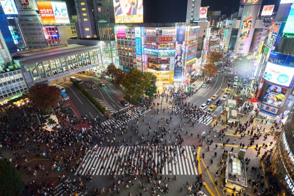 Shibuya Tokio Kreuzung