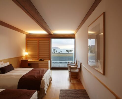 Benesse Arts Boutique Hotel Naoshima Japan Zimmer