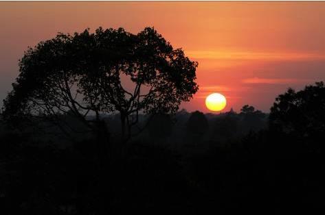 Sonnenuntergang in Kambodscha
