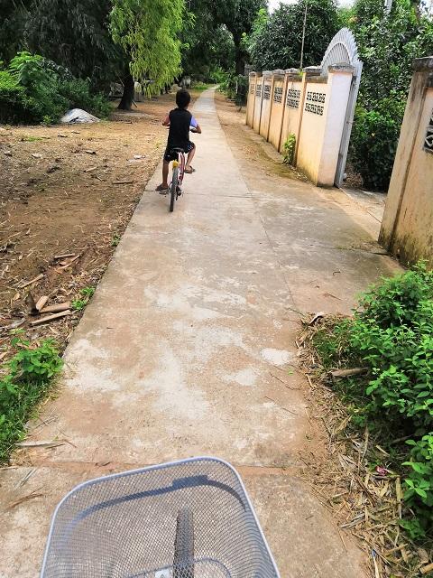 Fahrradtour auf der Insel Koh Trong in Kratie Kambodscha