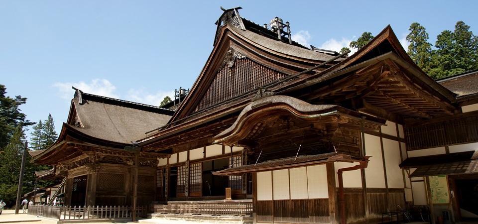 Eine Tempellodge am heiligen Koya-san