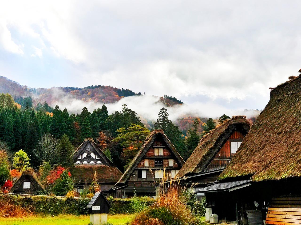 Shirakawa-Go in der Präfektur Takayama, Japan